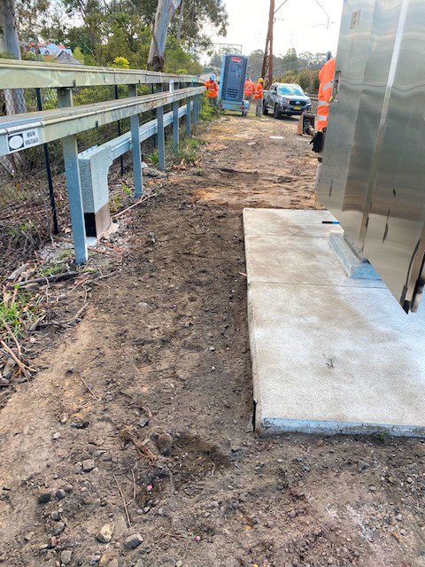 completed kiosk transformer project for sydney trains at leura