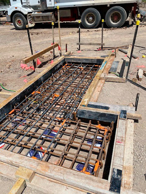 embedded welding for roberts road zone substation