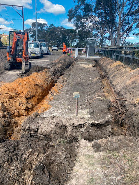excavation for earth grid installation