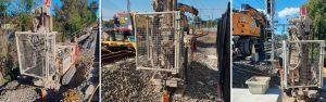 drill install deep electrodes marrickville rail corridor