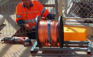 earth grid installation for new transformer at Schweppes Huntingwood