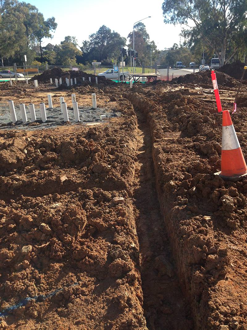 earth grid installation kippax childcare centre act