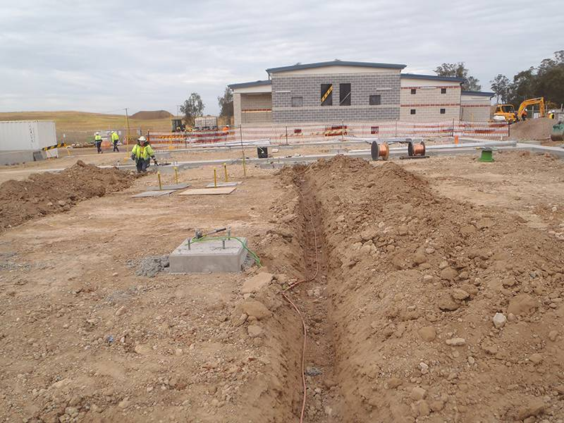 oran park zone substation earth grid project