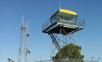 lightning protection system in fire tower